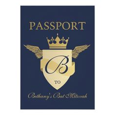 Passport Theme Bar Mitzvah or Bat Mitzvah Custom Invites Passport Invitations, Bar Mitzvah Invitations, Custom Invitations, Party Invitations, Invites, Invitation Paper, Invitation Design, Havana Nights Party, Cool Bars
