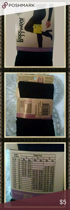 ✳LEGGS BLACK TIGHTS✳ Leggs Wear body shaping tights. These are brand new with tags size Q black in color. They are control top style. 91% Nylon 9% Spandex Leggs Other