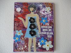 TEN DOLLARS SALE Balances Her World Girl Art Mixed by CarlasCraft