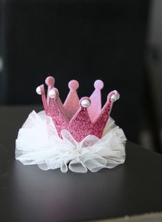 Princess Crown Hair clip - Pink - Hello Alyss Exclusive
