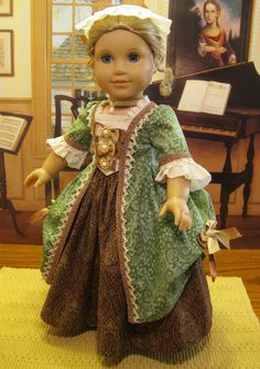 "Ball Gown for Elizabeth or Her Friend Felicty American Girl Doll 18in"" | eBay"