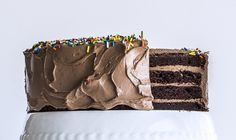 Nutella buttercream and rainbow sprinkles. | 17 Reasons Not To Despair