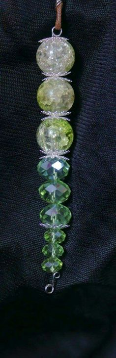Green crystal beaded necklace