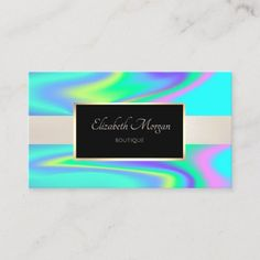 Shop Elegant Modern Professional Frame Holographic Business Card created by Biglibigli. Gold Business Card, Elegant Business Cards, Makeup Designs, Holographic, Wedding Planner, Things To Come, Boutique, Appointment Card, Paper