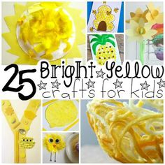 25 Bright Yellow Crafts for Preschoolers