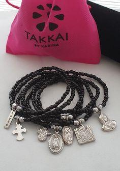 Stackable Bracelets, Seed Bead Bracelets, Bracelet Set, Black Bracelets, Dainty Bracelets, Pearl Bracelet, Catholic Jewelry, Catholic Medals, Bohemian Bracelets