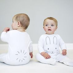 Bunny Face Sleepsuit Bunny Face Romper Bunny Face and Tail