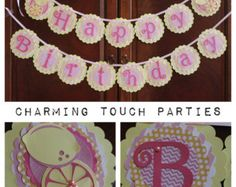 Custom Pink Lemonade Happy Birthday Banner
