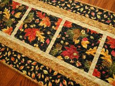 Fall Table Runner Quilted Autumn Table Runner by susiquilts