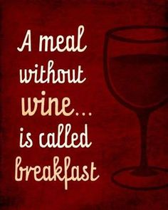 Door Plaque A Meal Without Wine Is Called Breakfast Wooden Wall