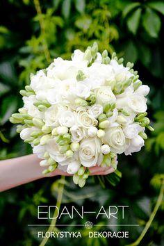 Bukiety Ślubne Edan-Art Mrągowo, Olsztyn, Warmińsko-Mazurskie, biały, ślub, frezja, róża, #bukiet