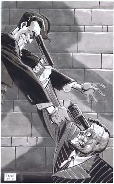 Two-face vs. Joker by Tim Sale Comic Book Artists, Comic Artist, Comic Books Art, Dc Comics, Batman Comics, Im Batman, Batman Art, Batman Stuff, Comic Book Villains