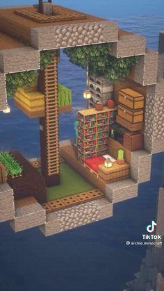 Minecraft Building Blueprints, Minecraft House Plans, Minecraft Cottage, Minecraft Mansion, Minecraft Houses Survival, Cute Minecraft Houses, Minecraft House Tutorials, Minecraft Room, Minecraft House Designs