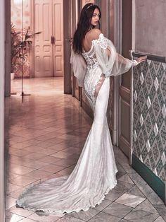 Global enthüllen  Galia Lahav 2018  Victorian Affinity  Sammlung Weißes  Kleid, Abendkleid, 83777953e0