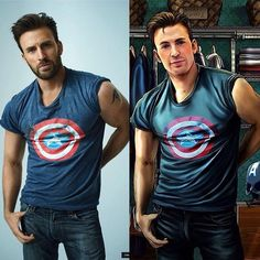 Chris and Steve! Robert Evans, Massachusetts, Super Hero Shirts, Captain Rogers, Captain America And Bucky, Scott Evans, Lisa, Bucky Barnes, Steve Rogers