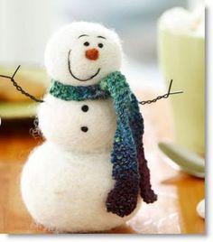 Felted Frosty the Snowman Craft Tutorial · Felting   CraftGossip.com
