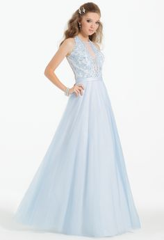 Lace Ball Gown #camillelavie #CLVprom