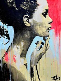 "Saatchi Art Artist Loui Jover; Drawing, ""perhaps (canvas)"" #art"
