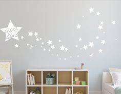 Shoot for the stars Wall Decal Star wall Decal by FoxandCanvas