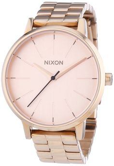 Nixon A099897 kensington rose gold dial stainless steel bracelet women watch NEW