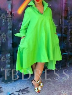Lapel Plain Long Sleeve Long Womens Blouse We Offer Top Good Quality Cheap Clothes For Women And Men Clothing Wholesaler, Get Affordable Clothing At Worldwide. Green Fashion, Look Fashion, Fashion Outfits, Fashion Skirts, 70s Fashion, Modest Fashion, Winter Fashion, Fashion Tips, Latest African Fashion Dresses