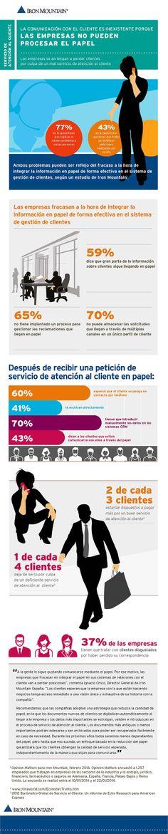 La atención al cliente #infografia #infographic #marketing