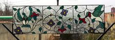 """Custom Made Stained Glass Transom Window - """"The Dance Of The Hummingbirds Ii"""" (Tw-37)"""