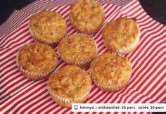 Almás zabmuffin Muffin, Cupcake, Cheesecake, Baking, Breakfast, Sweet, Recipes, Food, Yogurt