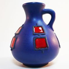 Fat Lava Keramik Vase • Schlossberg • West German Pottery • 70's Mid Century