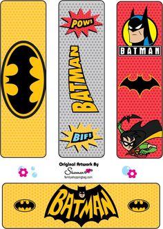 Etiquetas para Imprimir Gratis de Batman.