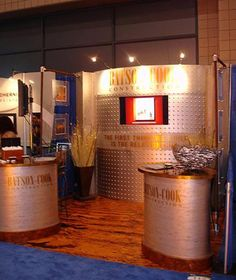 Trade show booth I designed for a commercial construction company