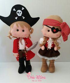 Piratas em feltro