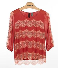 12f9db8d1bd06 BKE Boutique Chiffon Top - Women s Shirts Blouses in Cinnabar Blush