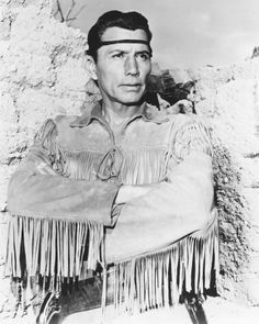 Jay Silverheels played Tonto on the Lone Ranger show- Native American Actors, Native American History, Native American Indians, Native Americans, Actor Secundario, Tv Westerns, The Lone Ranger, Cinema, Western Movies