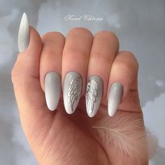 Angel wings nails