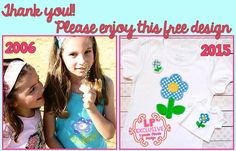 Lynnie Pinnie Free Spring Flower Applique Embroidery Design