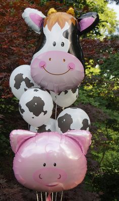 Excited to share the latest addition to my shop: 30 pink pig balloon/farm birthday party/barnyard party favor/barnyard birthday/farm balloon/barnyard balloon/barnyard party/pig balloon/ 844565736355880489 2nd Birthday Party For Girl, Cowgirl Birthday, Farm Birthday, Birthday Ideas, Cow Birthday Cake, Petting Zoo Birthday Party, Pig Party, Birthday Banners, Frozen Birthday