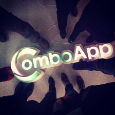 Our neon logo in the office: Friday mood is guaranteed! #comboapp #logo #design #brand #interior #neon #light #friday #comboappteam #team #fun