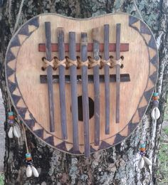 """West African-style bamboo key """"thumb piano"""" (Ilong) FREE DOMESTIC SHIPPING by PanAfricanArts on Etsy"""