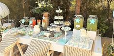 A dessert table for a baby boy's christening! Baby Boy Christening, Dessert Tables, Table Decorations, Photo And Video, Desserts, Instagram, Home Decor, Tailgate Desserts, Deserts