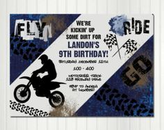 Motocross Birthday  Motorcycle Party  Dirt Bike Birthday