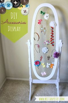 DIY Accessories Display #hairbows #jewelry