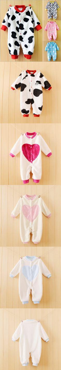 Children Pajamas Baby Rompers Newborn Baby Rompers Long Sleeve Underwear Polar Fleece Pajamas Boys Girls Spring Autumn Clothes