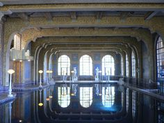 Indoor pool at San Simeon's Hurst Castle...check out the diving platform on the left...