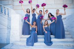 Cheering bridemaids on marble staircase #Michiganwedding #Michiganwedding #Chicagowedding #MikeStaffProductions #wedding #reception #weddingphotography #weddingdj #weddingvideography #wedding #photos #wedding #pictures #ideas #planning #DJ #photography #bride #groom