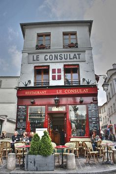 Le Consulat - Montmartre, Paris, France - a great place to sit and spectate!