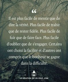 Life Quotes : Plus d'inspiration ici: lasolutionestenvo…… Best Quotes, Love Quotes, Inspirational Quotes, Mantra, Quote Citation, French Quotes, Bad Mood, Positive Attitude, Positive Thoughts
