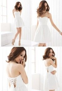 I think you'll like White Back Cross Straps Chest Bow Tee Dress. Add it to your wishlist!  http://www.wish.com/c/52a9db8c7360465dff72a336
