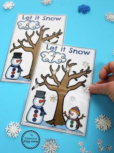 Snowflake Counting Activity for Preschool.