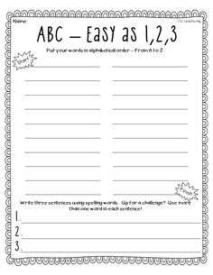 alphabetical order homework this page contains worksheets and ...